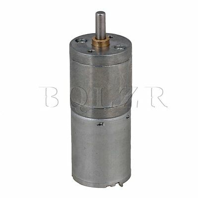 BQLZR DC12V 10RPM No-load 25GA370 Mini Metal Reduce Speed Electric Motor
