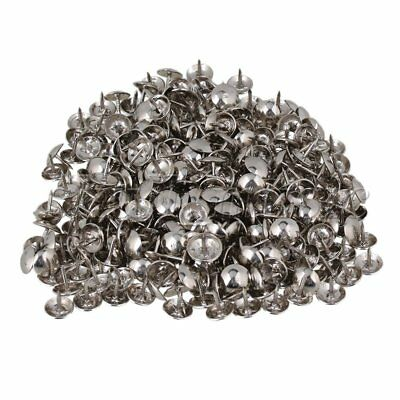 9 x 9mm Silver Iron Round Dome Head Upholstery Nails Stud Tack Pack of 200