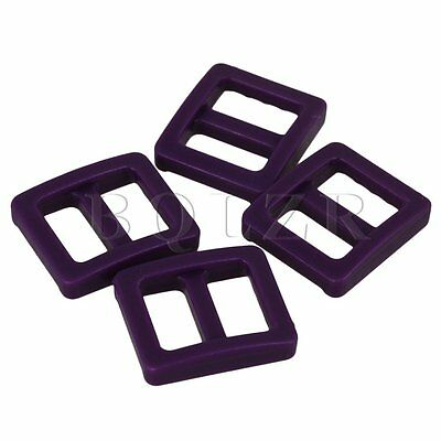 20 Pieces Purple Plastic Tri-glide Buckles for Adjusting Backpack Straps 1cm