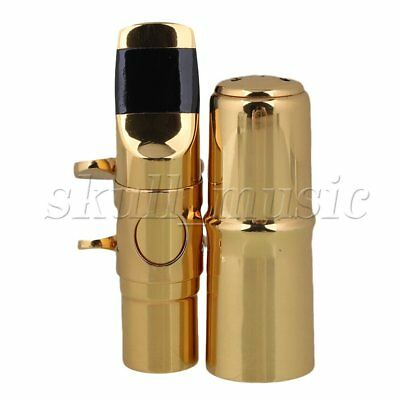 Gold plated #7 B-flat Soprano Sax Saxophone Mouthpiece With Ligature BQLZR