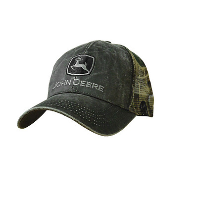 John Deere Mens charcoal mesh back cap #LP50034