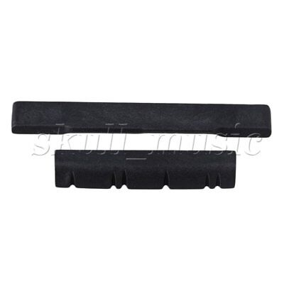 BQLZR Black 56x7.2x3mm Bridge Saddle 38x7x5mm Nut for 6 String Ukulele Guitar