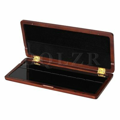 Maroon Wooden Saxophone Reed Case Storage for 10 Reeds with Magnetic Closure