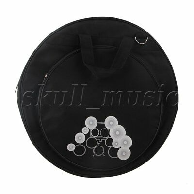 BQLZR Black 21.3 Inch Diameter 600D Oxford Cloth Dual Pocket Cymbal Bag