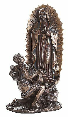 "10"" Our Lady Of Guadalupe San St Juan Diego Saint Estatua Virgen Miracle"