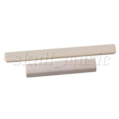Gray 38x7x5mm Slotted Nut 62x6x3mm Saddle for 6 String Ukulele Guitar BQLZR