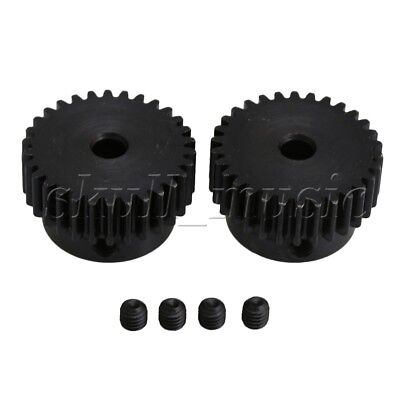 2 pcs 6mm Hole Diameter Motor Metal Gear Wheel Modulus 1 30 Teeth Steel Gear