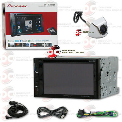 "Pioneer Avh-X490Bs 7"" Lcd Dvd Bluetooth Stereo W/ Chrome Keyhole Backup Camera"