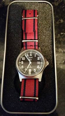 Improved 50m waterproof MWC G10 watch with date+.Royal Engineers strap.RE Sapper