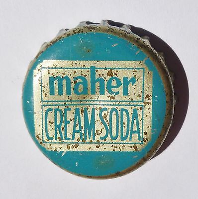 Maher Cream Soda Cork Bottle Cap Tiffin, OH  Rare!