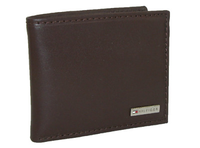 New Men's Tommy Hilfiger Leather Credit Card Id Wallet Bifold Brown - 31tl22x053