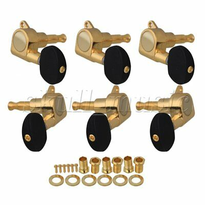 3R3L Gold Guitar Tuners Machine Heads black Button