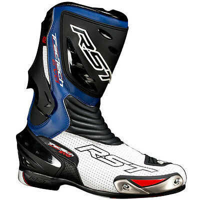 RST Tractech Evo CE Blue Motorcycle Motorbike Sports Bike Boots | All Sizes
