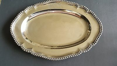 Geo III Sebastian and James Crespell Sterling Silver  Serving Plate/Platter