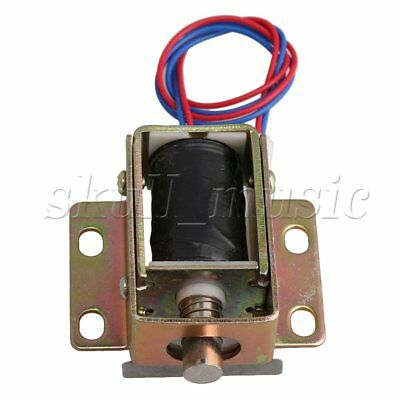 File Cabinet Door Electric Lock Assembly Solenoid DC 12V 0.6A Cylindrical latch