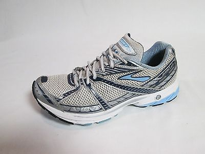 Brooks Ghost 2 Women's Running Shoes White, Blue, Silver Size 9 B