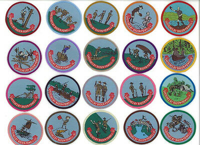 """WORLD SCOUT FOUNDER LORD BADEN POWELL - """"SCOUTING FOR BOYS"""" Sketches Patch 1-20"""
