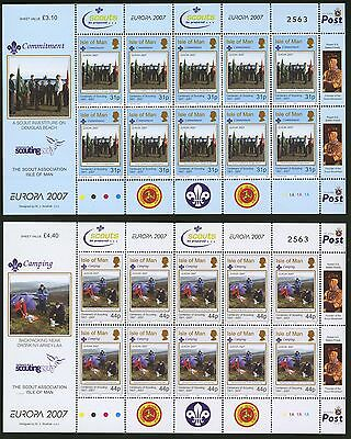 Isle of Man  2007   Scott # 1183a-1184a  Mint Never Hinged Souvenir Sheet Set