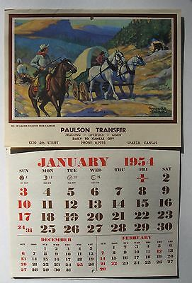 VINTAGE ADVERTISING CALENDAR with FAYERWEATHER BABCOCK  LITHO