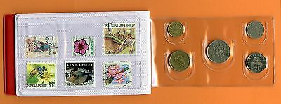 Singapore and Malaysia Coins and Stamps set with album