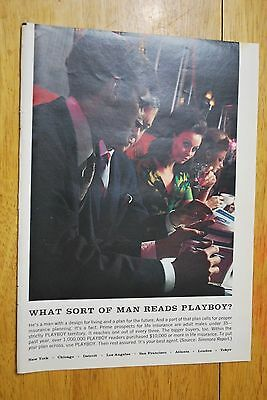 What Sort of Man Reads Playboy 1968 Playboy Magazine ad - Very Good
