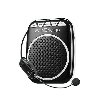 Updated WinBridge WB711 Rechargeable Voice Amplifier with UHF Wireless Microphon