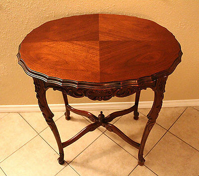Antique Table Edwardian Sheraton Revival Style Side Diamond Wood Early 20Th Cent