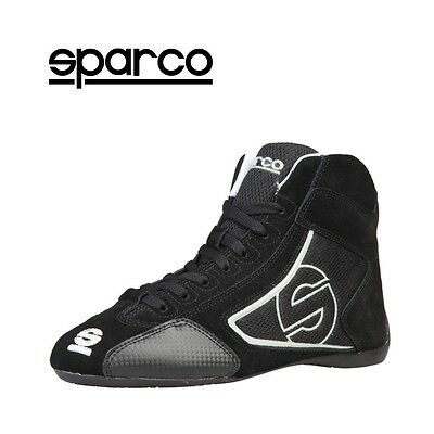 NEW Sparco Mens Yas-Mid Black Suede Motor Sport Racing Driving Shoes Sale