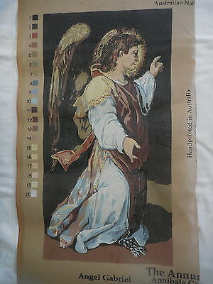 Tapestry Canvas Finecraft Angel Gabriel Hand Printed In Australia Religious