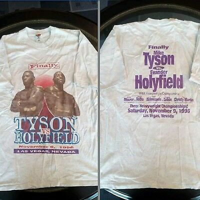90s Mike Tyson vs Evander Holyfield t-shirt size XL 2-sided