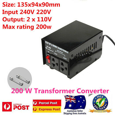 200W Step Down Transformer Converte AU-US 240V To 110V