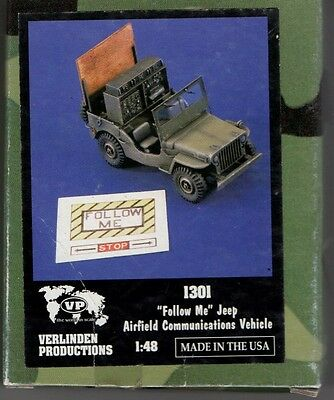 Verlinden 1301 - Follow Me Jeep Airfield Communications Vehicle 1/48 Resin Kit