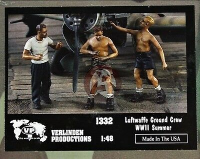 Verlinden 1332 - Luftwaffe Groundcrew ( No Scatolina) - 1/48 Resin Kit