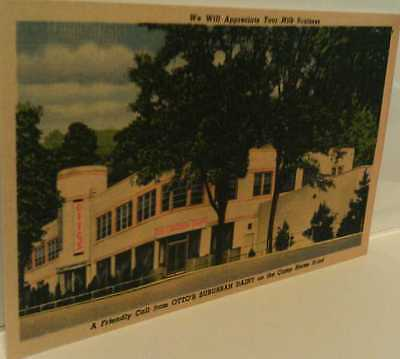 1950 Otto's Suburban Dairy Milk on Camp Horne Road Pittsburgh Pa. Repo Postcard