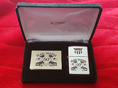 zippo Pearl Harbor 60 th anniversary silver plate 24kt gold inlay 8090/12000 ltd