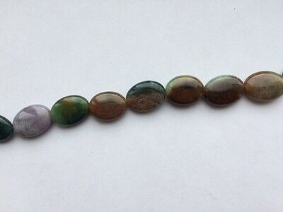 Indian Agate flat Oval Gemstone beads - Approx 20mm