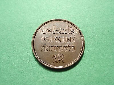 Palestine 1939 One Mil Uncirculated Condition