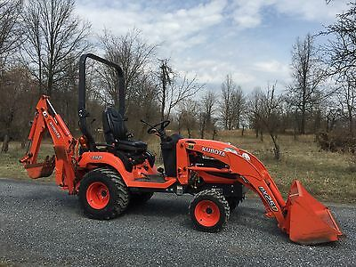 2013 Kubota Bx25 4X4 Compact Diesel Tractor Loader Backhoe Tlb Cheap Shipping!!