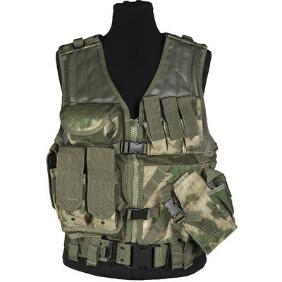 Mil-Tec USMC Tactical Vest Multi Pocket Mag Combat Paintball Holder MIL-TACS FG