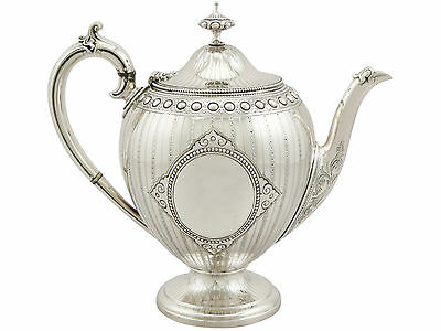 Antique Victorian Sterling Silver Teapot by Barnard & Sons Ltd