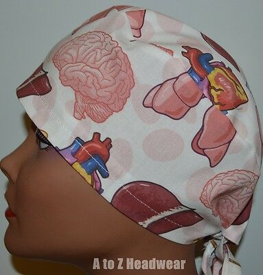 The Anatomy TRADITIONAL Tie Back Surgical Scrub Cap Hat
