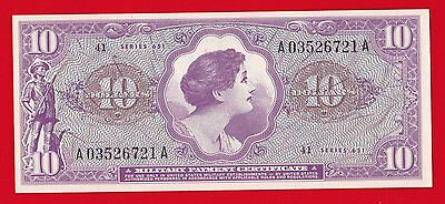 Military Payment Certificate $10 Series 651 Unc.