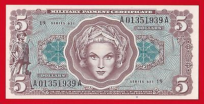 Military Payment Certificate $5 Series 651 Unc.