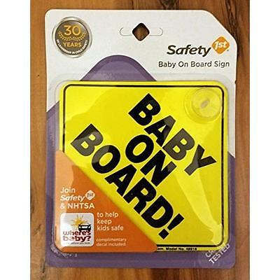 Safety 1st #489180030 Yellow Baby On Board Sign New
