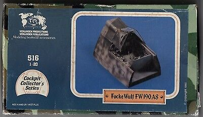 Verlinden 516 - Focke Wulf 190A8 Cockpit - 1/20 Resin Kit
