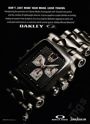 Oakley 13-jewel minute machine watch print ad 2007