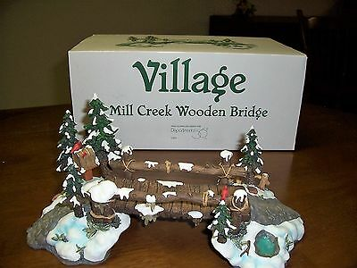 dept 56 village accesseries Mill creek Wooden Bridge # 52653