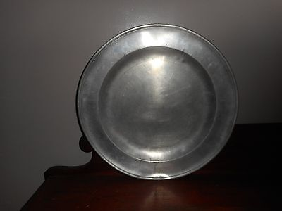 Antique Pewter Large Dish 15""