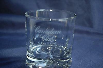 Canadian Club Classic Whiskey Dimpled Design Heavy Base Rocks Glass Whisky