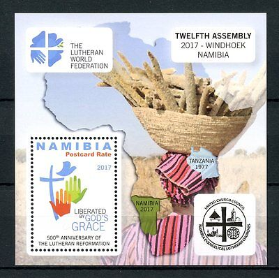 Namibia 2017 MNH Lutheran Reformation 500th Anniv 1v M/S Luther Religion Stamps